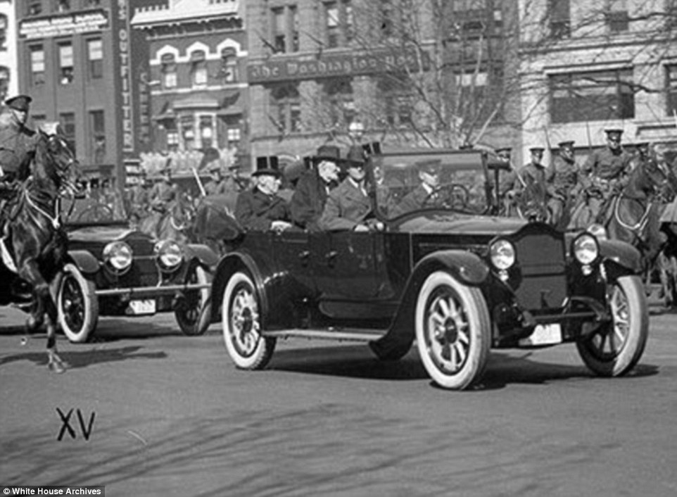 In 1912 Warren G. Harding was the first president to be driven to and from his inauguration