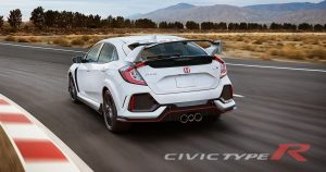 7. Honda Civic Type R 2.0L turbocharged I4