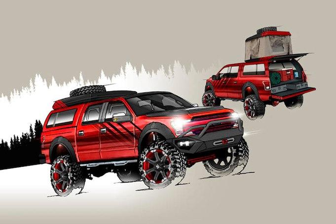Las personalizadas camionetas Ford siguen siendo la gran atracción del show de SEMA